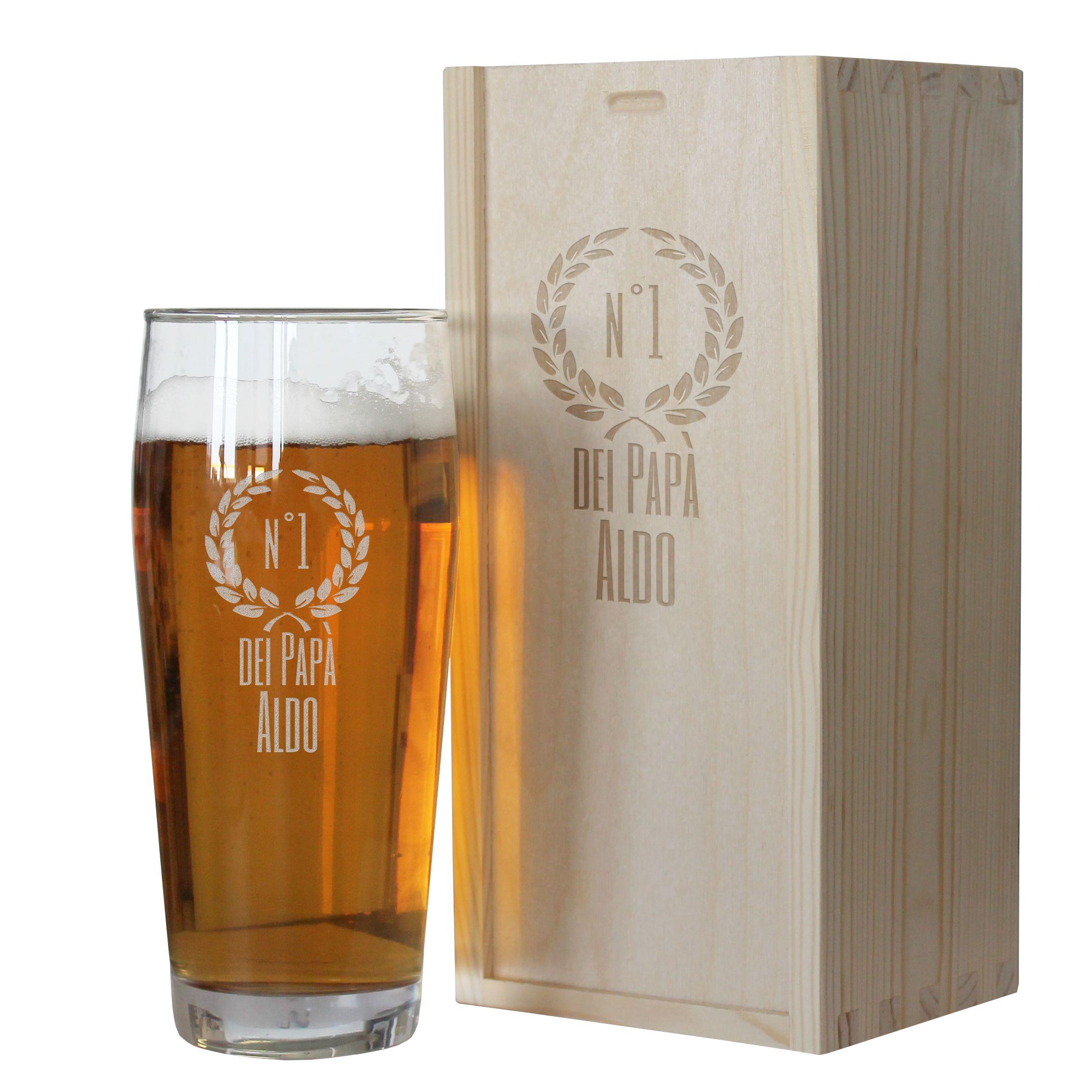 Bicchiere da birra di Pap personalizzato  idea regalo