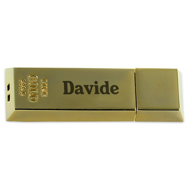 Chiavetta USB lingotto personalizzata  idea regalo