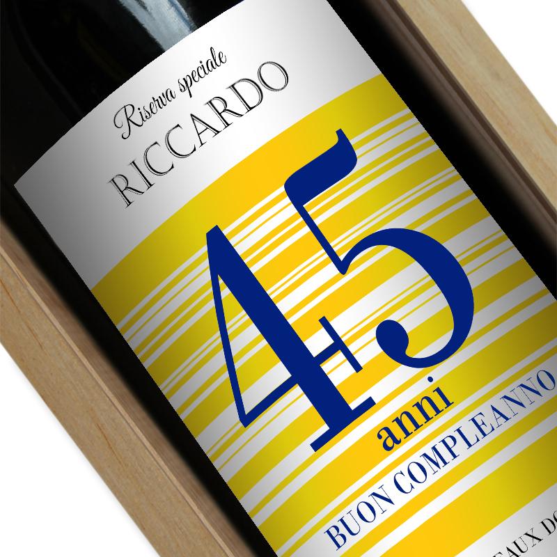 Bottiglia di vino personalizzata Buon Compleanno  idea