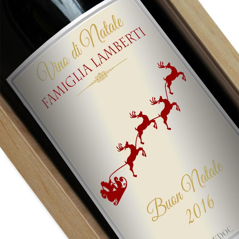 Bottiglia di vino personalizzata Natale  idea regalo originale  AngolodelRegalo