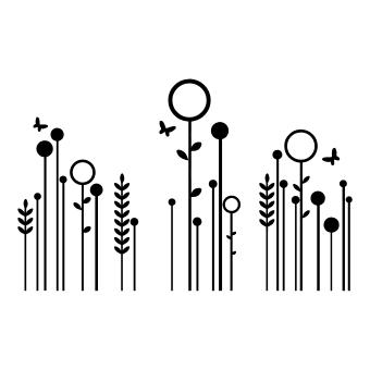Sticker Fiori stilizzati  idea regalo originale  AngolodelRegalo