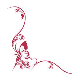 Sticker Farfalla con fiore Liberty  idea regalo originale