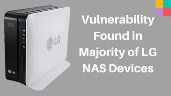 LGNasBug - Individuata vulnerabilità RCE che interessa diversi modelli NAS di LG