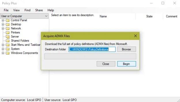 policyplus01 - Come abilitare il Group Policy Editor (gpedit.msc) in Windows 10 Home e Starter