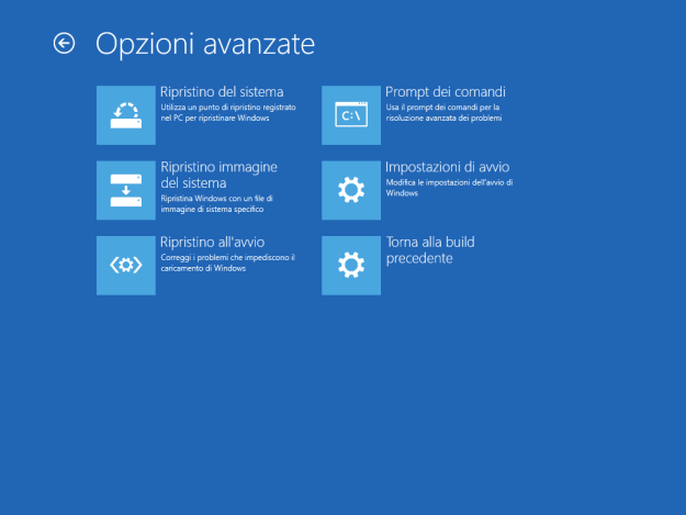 buildprevious - Cosa fare quando Windows 10 non si avvia o si blocca?