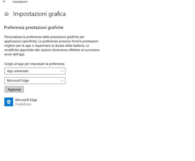 msedge01 - Come forzare Microsoft Edge (e non solo) ad usare la GPU migliore