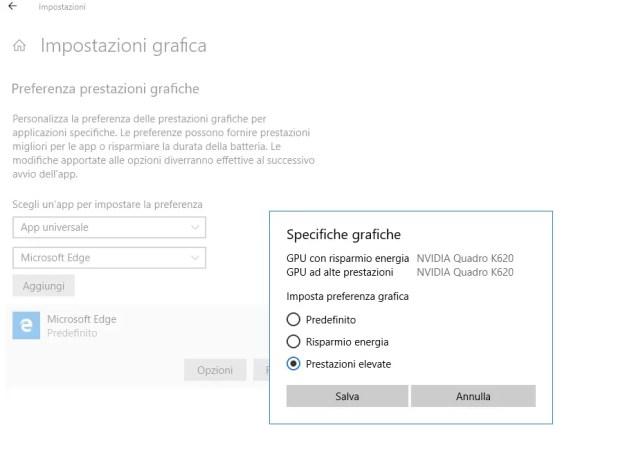 msedge02 - Come forzare Microsoft Edge (e non solo) ad usare la GPU migliore