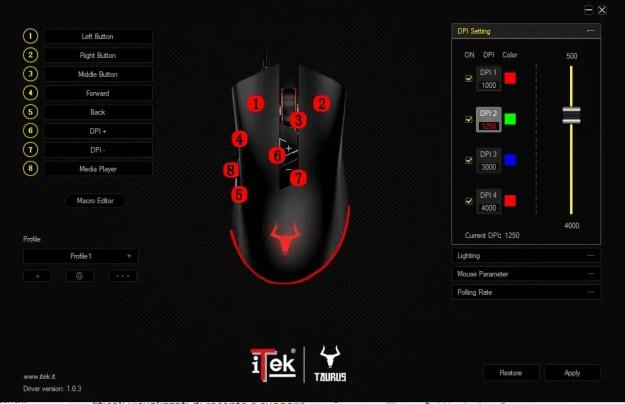 mouse - La serie Taurus di iTek pensata per i videogiocatori