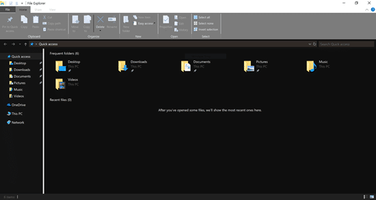 dark theme in file explorer 1 - Microsoft introduce il tema scuro per Esplora Risorse