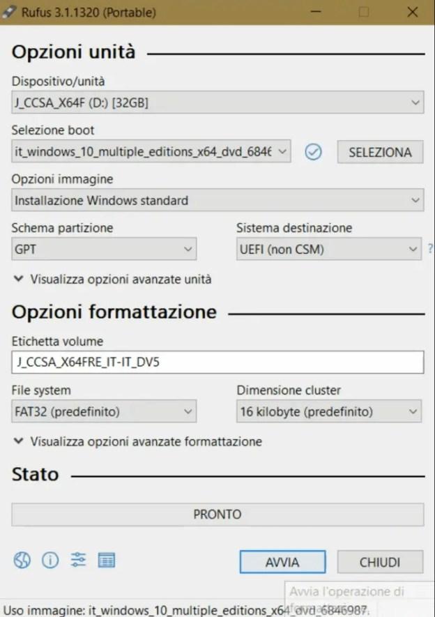 rufus01 - Come migrare da un sistema a 32 bit ad uno a 64 bit?