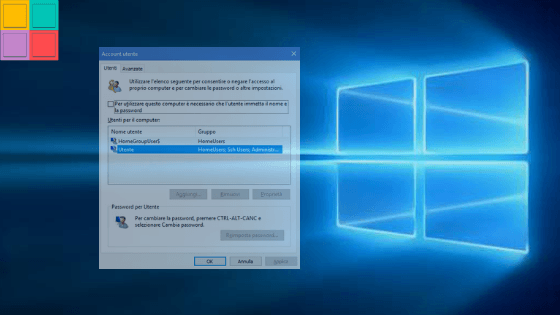 avvioautomaticWindows - Come togliere la richiesta password all'avvio di Windows