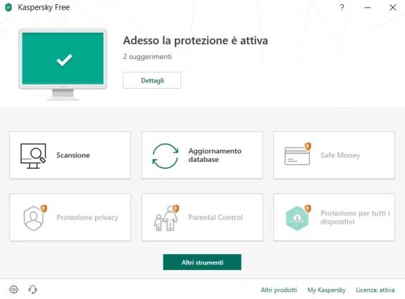 kaspantivBig 1 - Recensione Kaspersky Free Antivirus