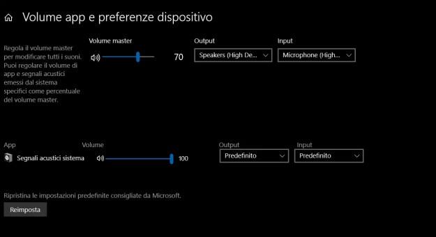 mixervolumenew - Mixer audio rinnovato per la prossima versione di Windows 10