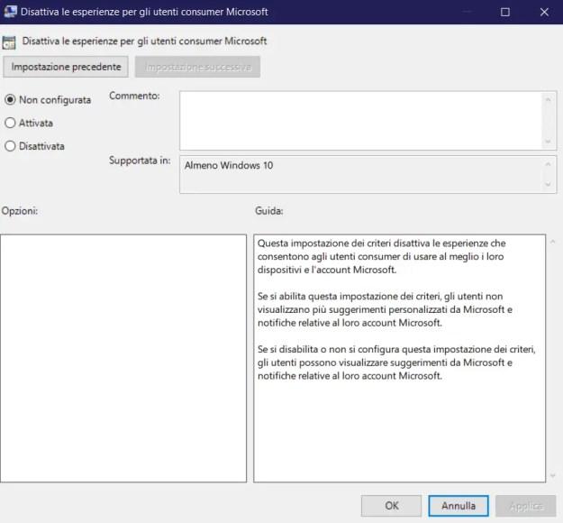 appsuggdisabled01 - Windows 10: come disabilitare le app suggerite (come Candy Crush)