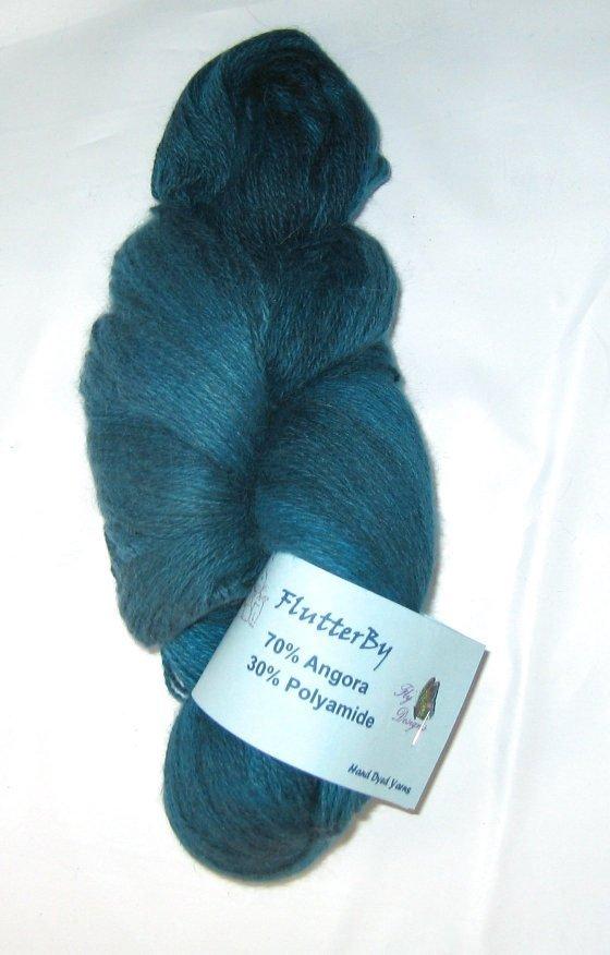 Flutterby Yarn 70 Angora 30 Polyamide  Hand dyed