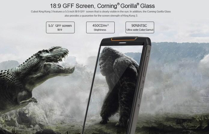 Cubot King Kong 3 screen