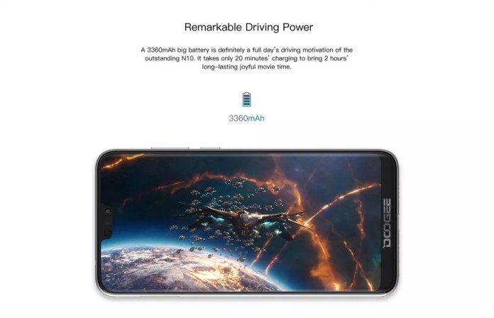 Doogee N10 Battery
