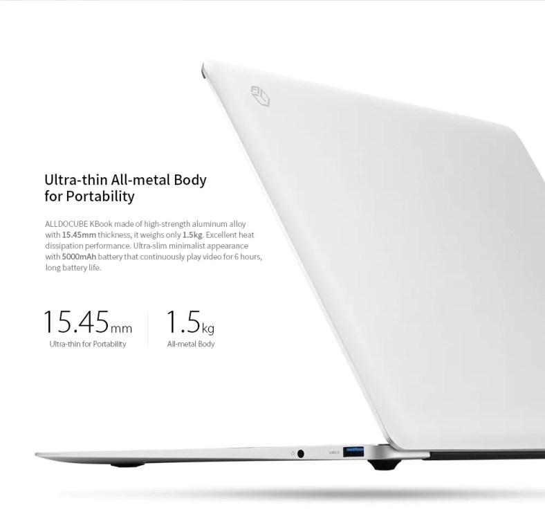 Alldocube Kbook Ultrabook dimensions