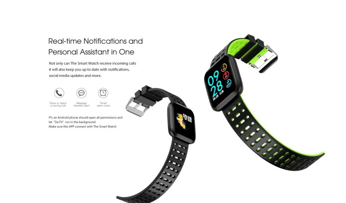 Lenovo E1 Smart Watch notifications