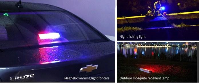 Alfawise AL - M1 Plus Magnetic LED Camping Lantern uses