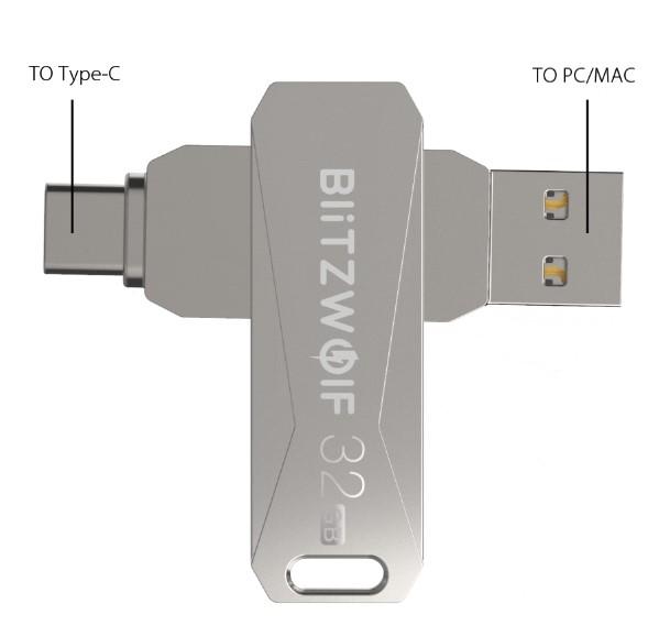 Blitzwolf BW-UPC2 Usb Flash drive dual usage