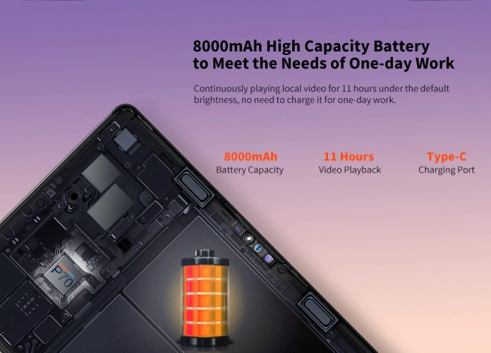 Teclast T30 4G Tablet 10.1-inch Battery