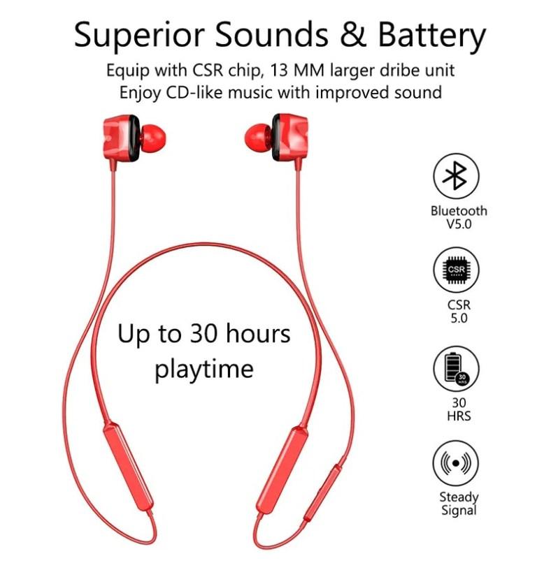 Tourya S7 Wireless Sport earphones Bluetooth 5.0