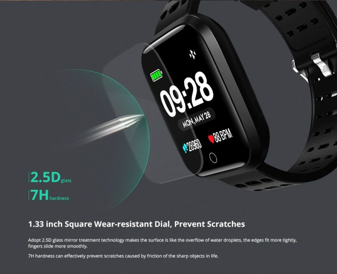 lenovo E1 Smartwatch screen