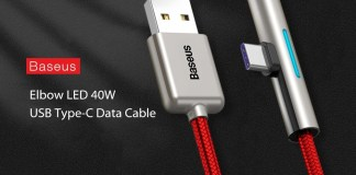 Baseus LED Elbow 40W Type-C Cable