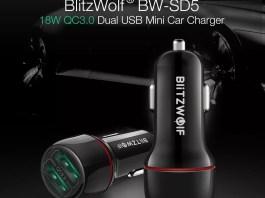 Blitzwolf BW-sd5 QC 3.0 φορτιστής αυτοκινήτου