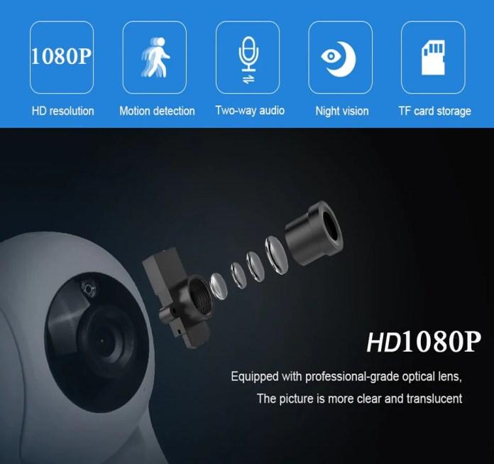 INQMEGA Cloud HD IP Camera features