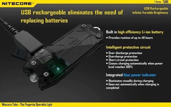 Nitecore TUBE LED Keychain Light power