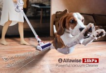 Alfawise AR182BLDC 18kPa Powerful Cordless Handheld Stick Vacuum Cleaner