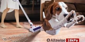 Alfawise AR182BLDC 18kPa Powerful Cordless Handheld Stick Vacuum Cleaner