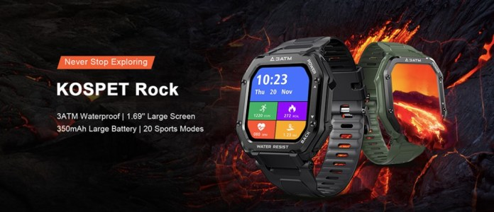 Kospet Rock 1.69 Inch Large Screen Heart Rate Blood Pressure SpO2 Monitor