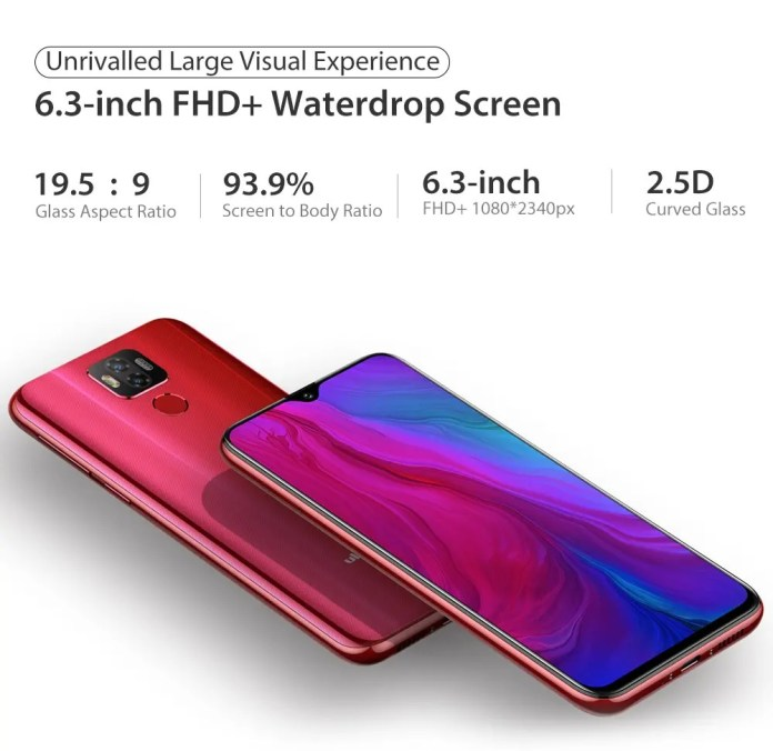 Ulefone-Power-6-Global-Version-6_3-inch-FHD+-NFC-6350mAh-16MP-Dual-Rear-Camera-4GB-64GB screen