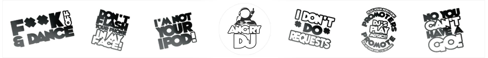 angry dj logo collections
