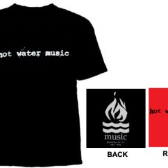 Hot Water Music Shirt Fetal Heart Diagram Logo On Front Flame Back Youth Sized Sale Price