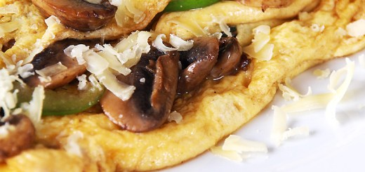 Mushroom and Green Pepper Omelette
