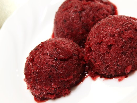 Plum and Blueberry Sorbet