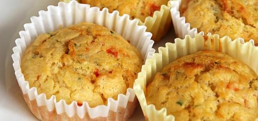 Cheesy Zucchini and Roasted Capsicum Muffin