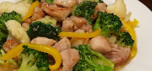 Chicken, Cauliflower and Broccoli Stir Fry