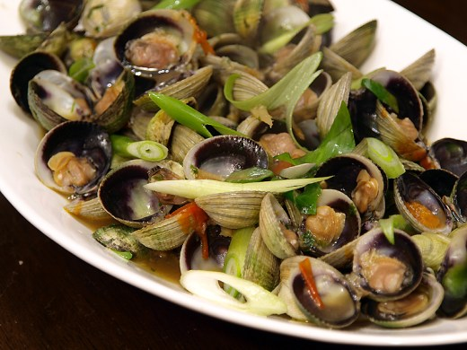 Asian Style Stir Fried Clams