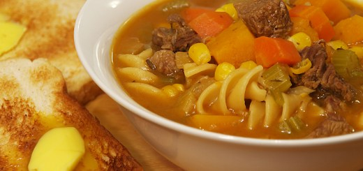 Chunky Beef and Pumpkin Soup