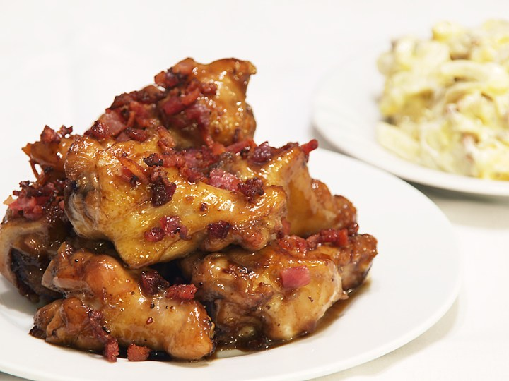 Bacon and Maple Chicken Nibbles