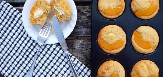 Peaches and Cream Cheese Muffin