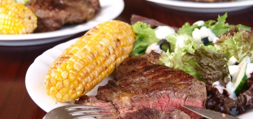 Grilled Steak and Greek Salad