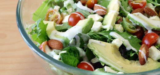 Mixed Greens, Avocado and Feta Salad