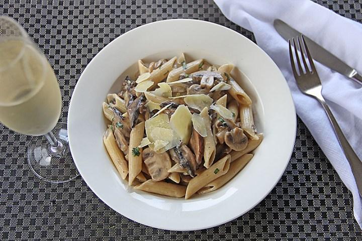 Mixed Mushroom Pasta Wide