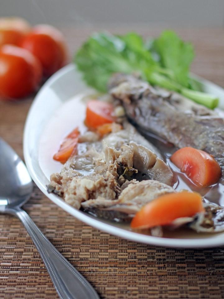 Sinigang na Ulo (Fish Head in Tamarind Broth) 1